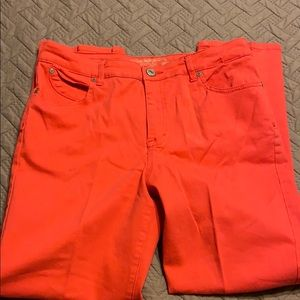 Hannah Bright Coral Ankle Jeans